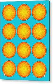 Bubbles Sky Orange Blue Warhol  By Robert R Acrylic Print