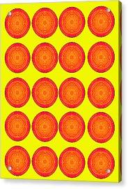 Bubbles Sunny Oranges Warhol  By Robert R Acrylic Print