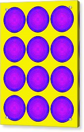 Bubbles Sunny Purple Blue Warhol  By Robert R Acrylic Print
