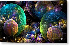 Bubbles Upon Bubbles Acrylic Print by Peggi Wolfe