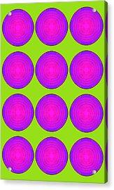 Bubbles Lime Purple Poster Acrylic Print