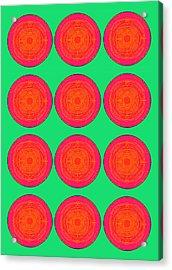 Bubbles Watermelon Warhol  By Robert R Acrylic Print