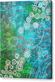 Acrylic Print featuring the painting Bubble's World by Shabnam Nassir