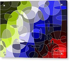 Bubbling Colours Acrylic Print