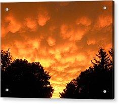 Bubbling Sky Acrylic Print