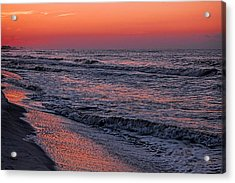 Acrylic Print featuring the digital art Bubbling Surf by Michael Thomas