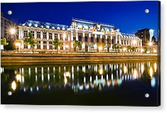 Bucharest At Night Acrylic Print by Ioan Panaite