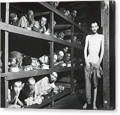 Buchenwald Concentration Camp Survivors Acrylic Print by Everett