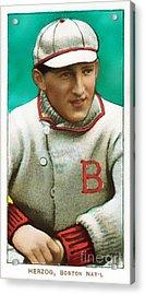 Buck Herzog Boston Braves Baseball Card 0500 Acrylic Print by Wingsdomain Art and Photography