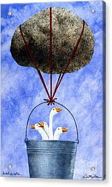 Bucket Of Dolts... Acrylic Print by Will Bullas