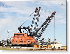 Bucket Wheel By Syncrude Upgrader Plant Acrylic Print by Ashley Cooper