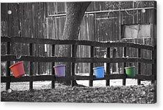 Buckets Acrylic Print