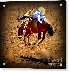 Acrylic Print featuring the photograph Bucking Broncos Rodeo Time by Susan Garren