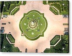Buckingham Fountain  Aerial Acrylic Print by Adam Romanowicz