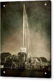 Acrylic Print featuring the photograph Buckingham Fountain - Grant Park - Chicago - Downtown by Photography  By Sai