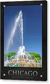 Buckingham Fountain Spray Poster Acrylic Print by Christopher Arndt