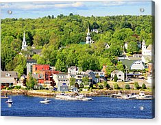 Acrylic Print featuring the photograph Bucksport Maine Waterfront by Barbara West