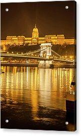Buda Castle Chain Bridge Nightscape Acrylic Print