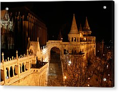 Acrylic Print featuring the photograph Budapest At Midnight by Jon Emery
