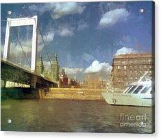 Budapest Elisabeth Bridge Acrylic Print