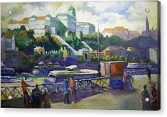 Acrylic Print featuring the painting Budapest  Hungary by Paul Weerasekera