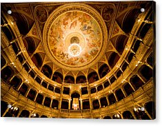 Budapest Opera House Auditorium Acrylic Print by Artur Bogacki