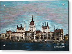 Budapest Parliament By Jasna Gopic Acrylic Print