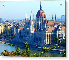 Budapest Parliament Acrylic Print by Kay Gilley