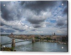 Budapest Skyline And Sky Acrylic Print