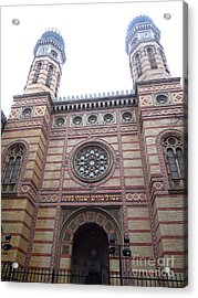 Acrylic Print featuring the photograph Budapest Synagogue by Deborah Smolinske