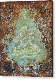 Budda Acrylic Print by Jeffrey Oldham