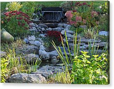 Acrylic Print featuring the photograph Buddha Water Pond by Brenda Brown