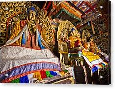 Buddahs Erdene Zuu Monastery Mongolia Acrylic Print by Colin Monteath