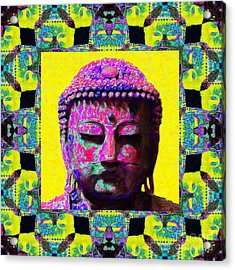 Buddha Abstract Window 20130130p120 Acrylic Print by Wingsdomain Art and Photography