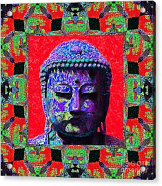 Buddha Abstract Window 20130130p55 Acrylic Print by Wingsdomain Art and Photography