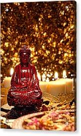 Buddha And Candles Acrylic Print