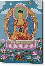 Buddha Arising Acrylic Print by Andrea Nerozzi