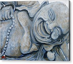 Acrylic Print featuring the painting Buddha Bella by Tom Roderick