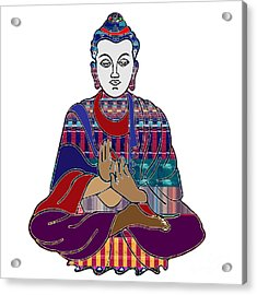 Buddha In Meditation Buddhism Master Teacher Spiritual Guru By Navinjoshi At Fineartamerica.com Acrylic Print by Navin Joshi
