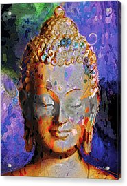 Acrylic Print featuring the painting Buddha by David Klaboe