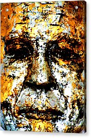Acrylic Print featuring the photograph Buddha Face by Nola Lee Kelsey