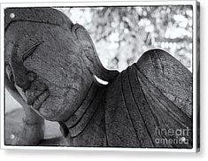 Buddha Face Acrylic Print by Setsiri Silapasuwanchai