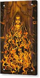 Buddha. Fire Of Meditation Acrylic Print by Vrindavan Das