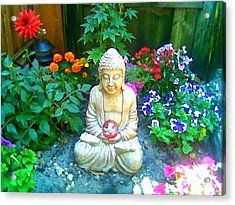 Backyard Buddha Acrylic Print