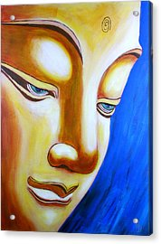 Buddha Head Gazing Art Acrylic Print