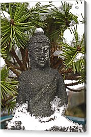 Buddha In The Snow Acrylic Print
