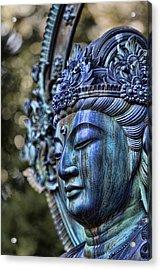 Buddha Acrylic Print by Karen Walzer