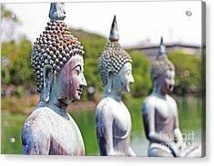 Buddha Acrylic Print by Lars Ruecker