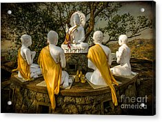 Buddha Lessons Acrylic Print by Adrian Evans