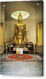 Gold Buddha Acrylic Print by Maria Coulson